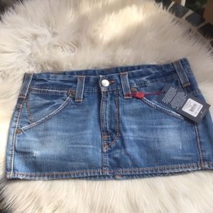 True religion Denim mini skirt NWT